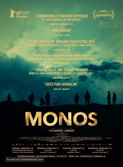 Monos - German Movie Poster