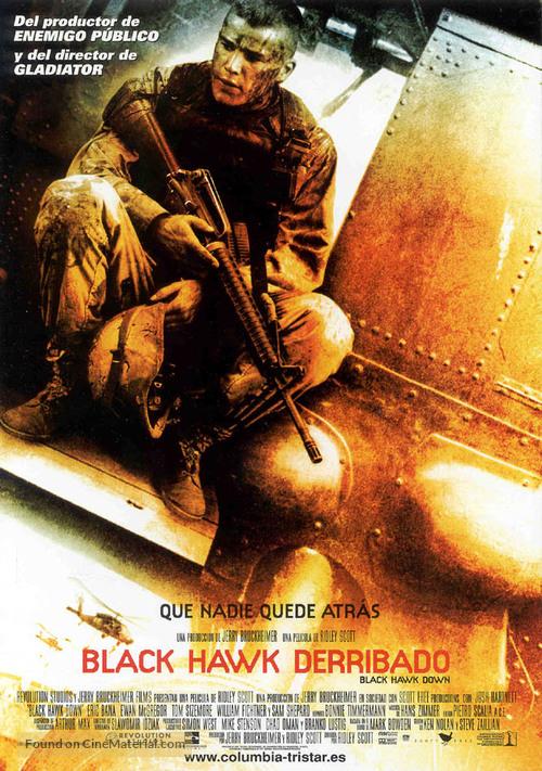 Black Hawk Down - Spanish Movie Poster