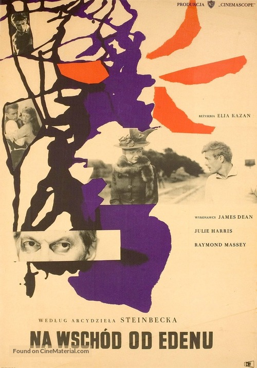 East of Eden - Polish Movie Poster
