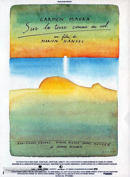 Sur la terre comme au ciel - French Movie Poster