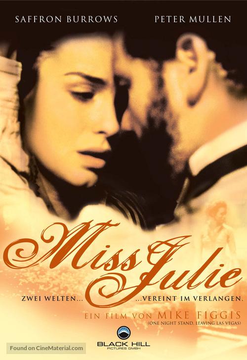 Miss Julie - German DVD cover