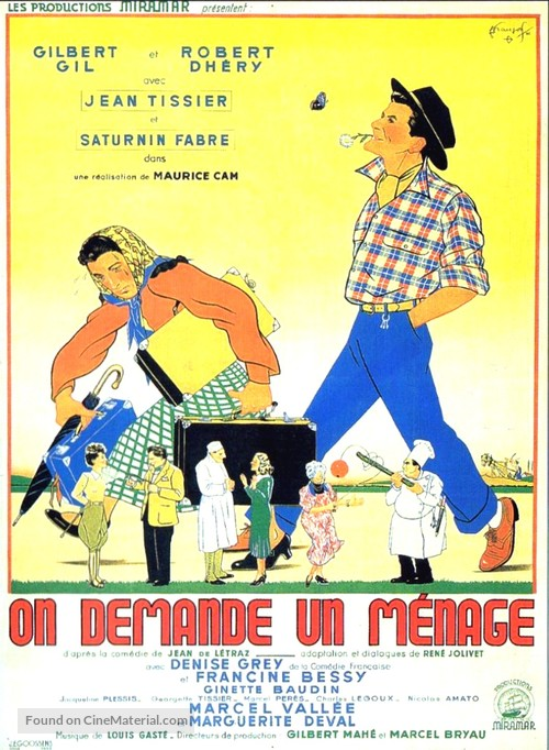 On demande un ménage - French Movie Poster