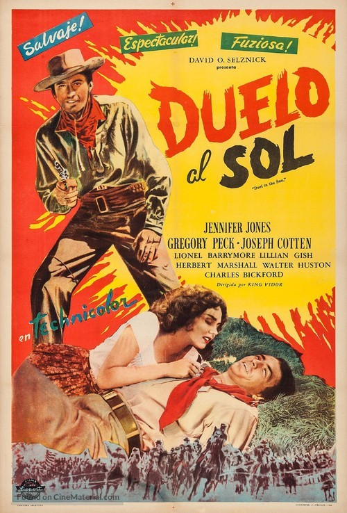 Duel in the Sun - Argentinian Movie Poster