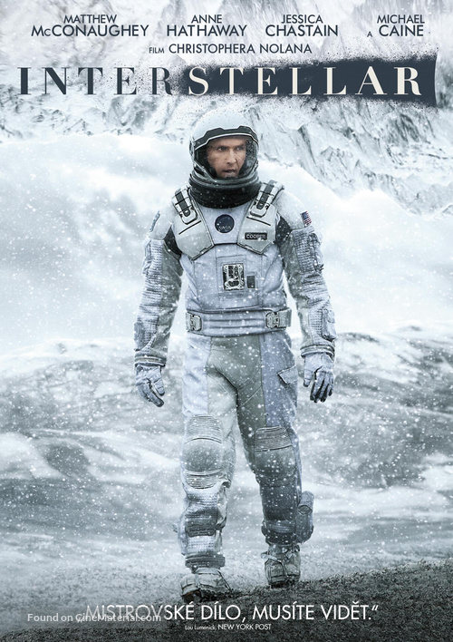 Interstellar - Czech DVD movie cover