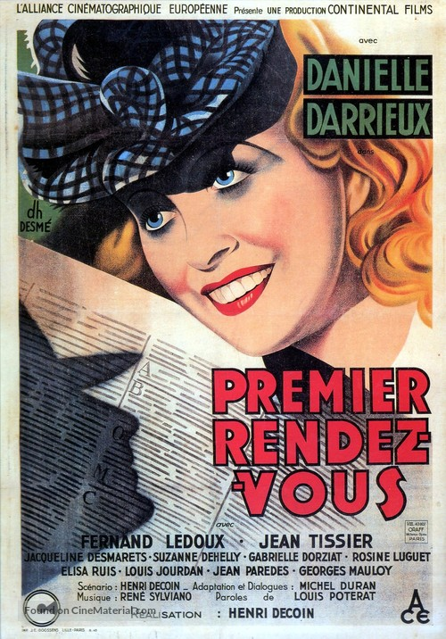 Premier rendez-vous - French Movie Poster
