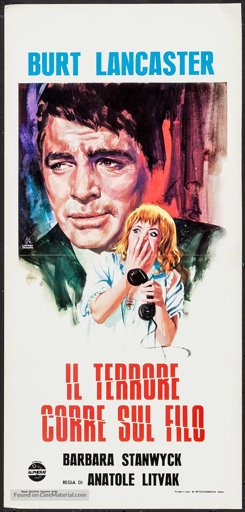 Sorry, Wrong Number - Italian Movie Poster