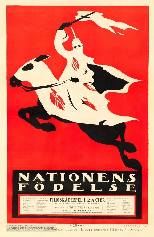 The Birth of a Nation - Swedish Movie Poster