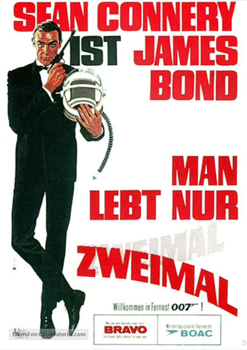 You Only Live Twice - German Movie Poster
