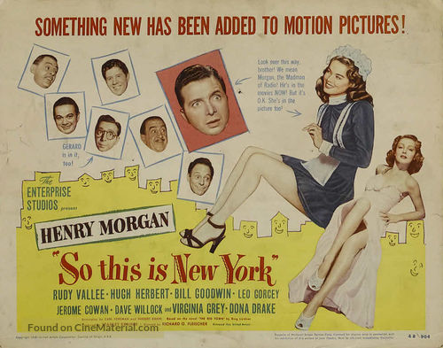 So This Is New York - Movie Poster