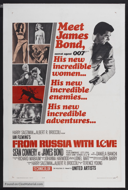 From Russia with Love - Theatrical poster