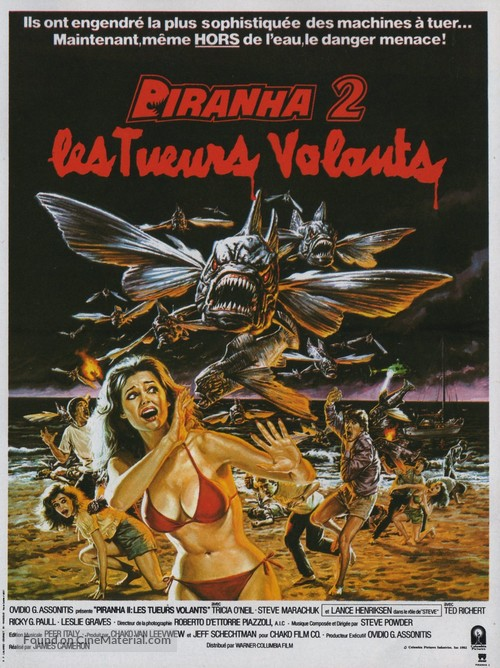 Piranha Part Two: The Spawning - French Movie Poster
