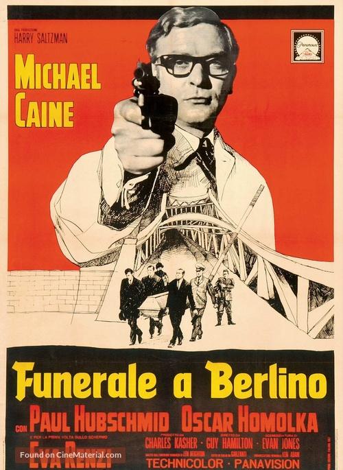 Funeral in Berlin - Italian Movie Poster