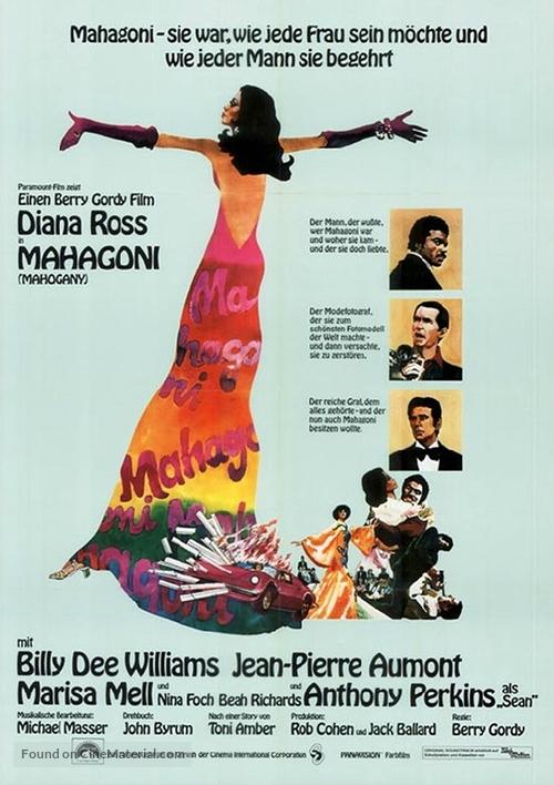 Mahogany - German Movie Poster