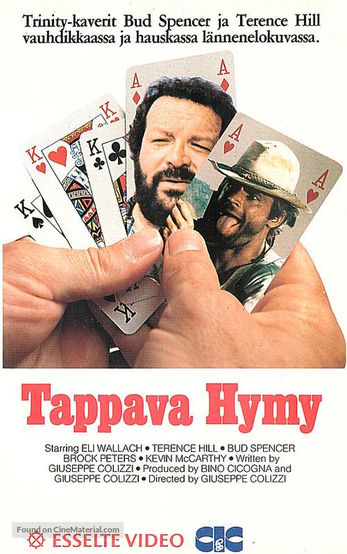 I quattro dell'Ave Maria - Finnish VHS movie cover