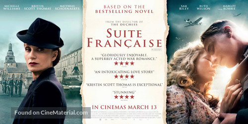 Suite Française - British Movie Poster