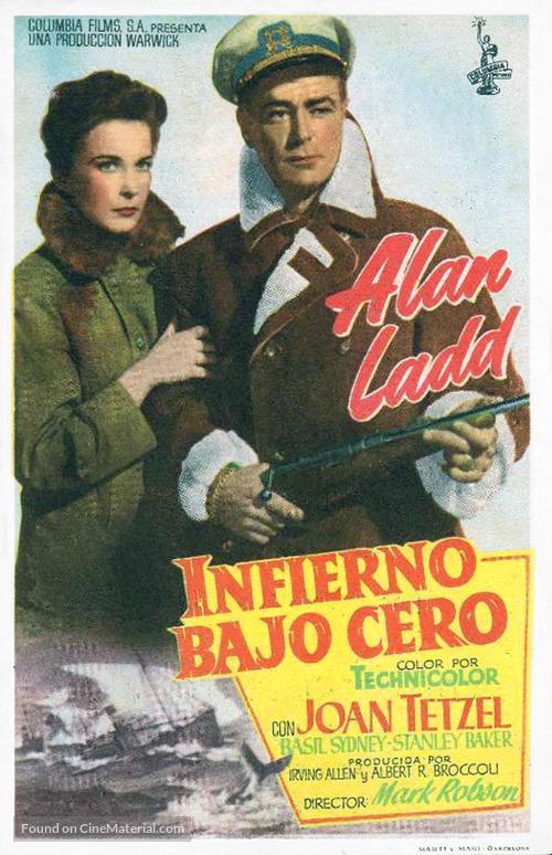 Hell Below Zero - Spanish Movie Poster