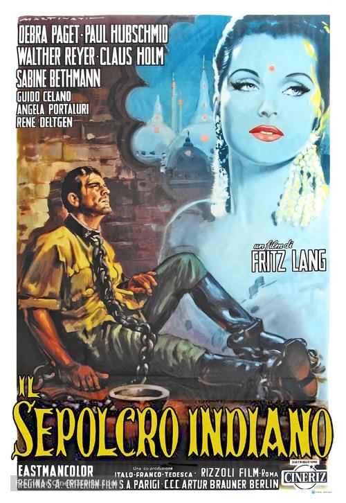 Das iIndische Grabmal - Italian Movie Poster