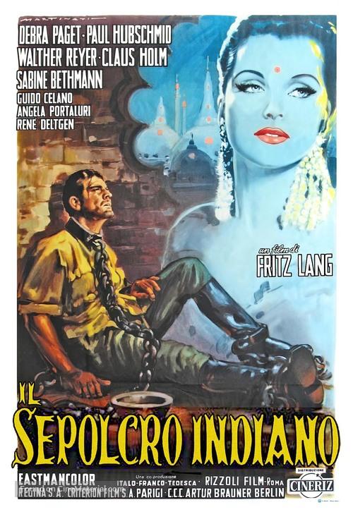 Indische Grabmal, Das - Italian Movie Poster