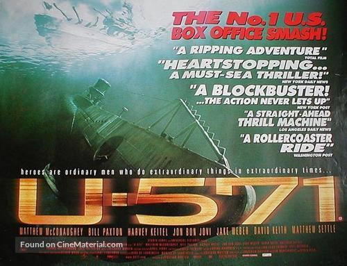 U-571 - British Movie Poster