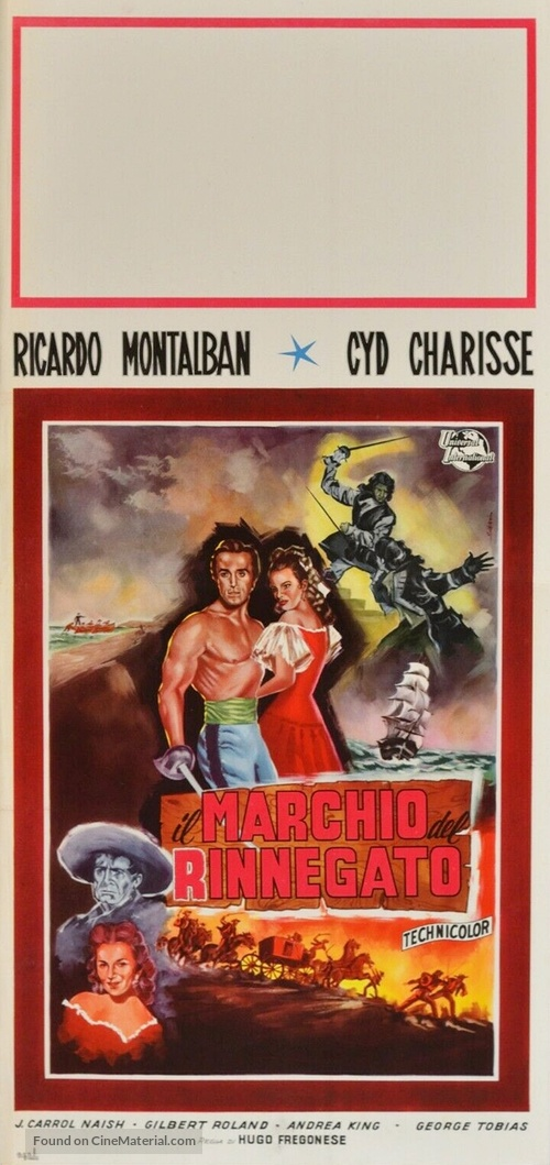 The Mark of the Renegade - Italian Movie Poster