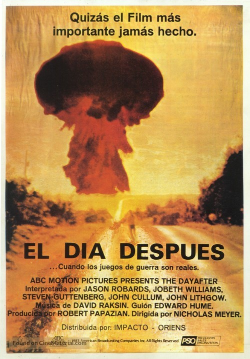 The Day After - Spanish Movie Poster