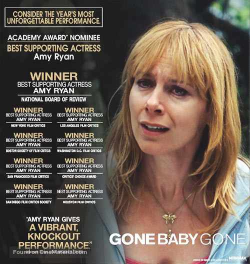 Gone Baby Gone - For your consideration movie poster