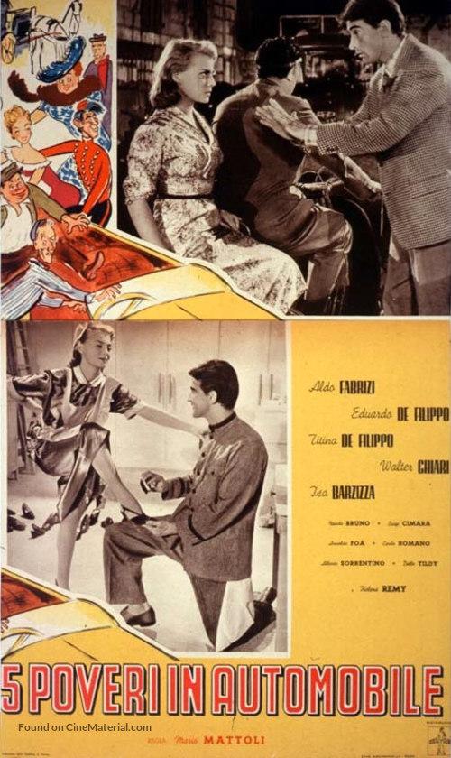 Cinque poveri in automobile - Italian Movie Poster