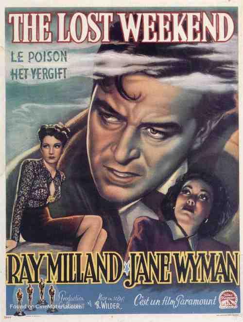 The Lost Weekend - Belgian Movie Poster