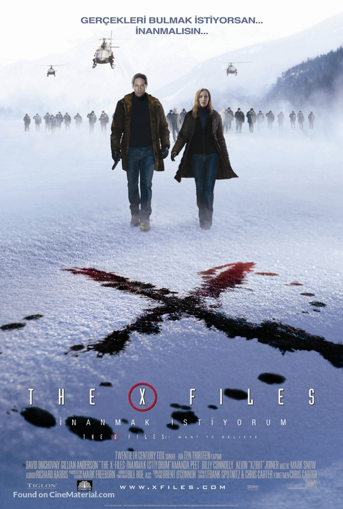 The X Files: I Want to Believe - Turkish Movie Poster