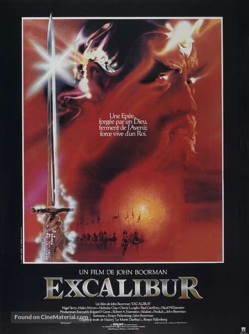 Excalibur - French Movie Poster