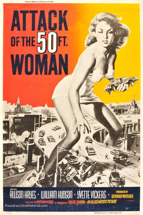 Attack of the 50 Foot Woman - Movie Poster