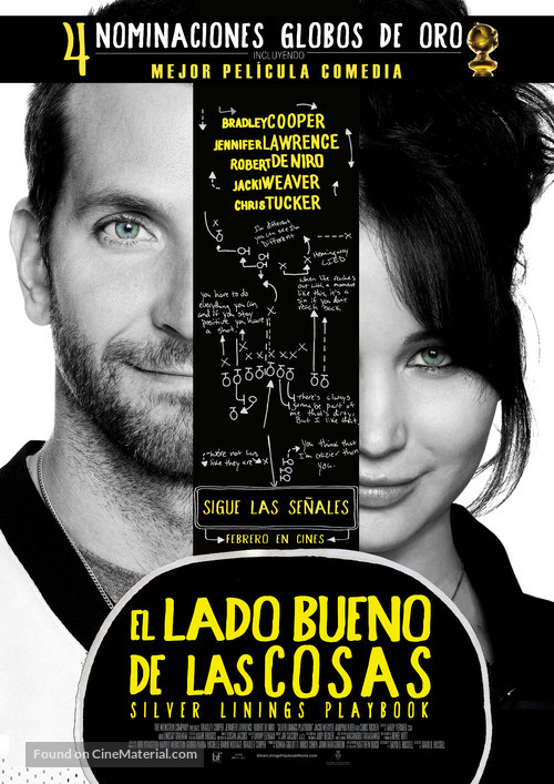 Silver Linings Playbook - Chilean Movie Poster