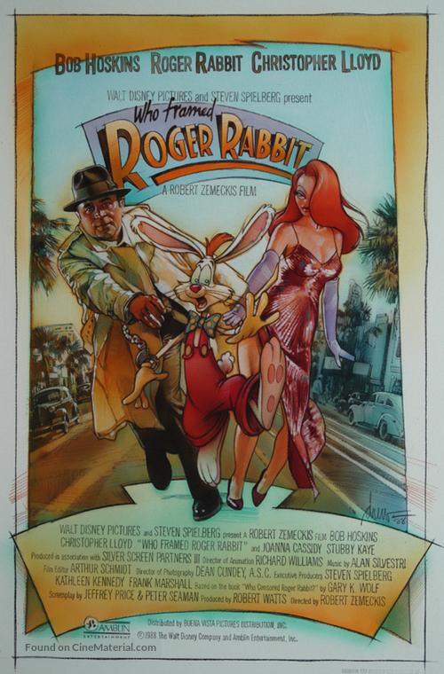Who Framed Roger Rabbit 1988 Movie Poster