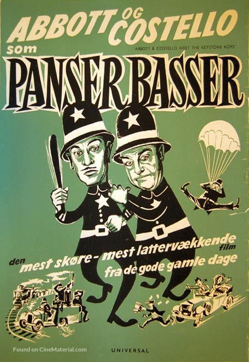 Abbott and Costello Meet the Keystone Kops - Danish Movie Poster