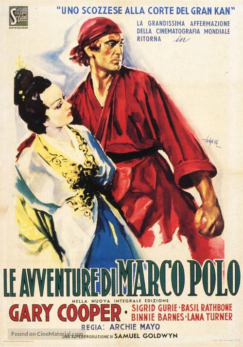 The Adventures of Marco Polo - Italian Movie Poster