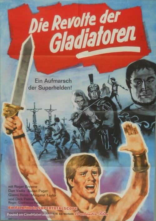 Dieci gladiatori, I - German Movie Poster