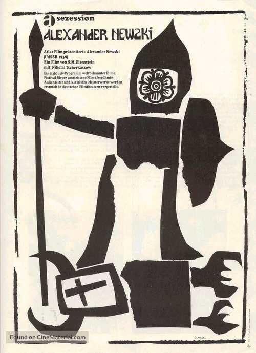 Aleksandr Nevskiy - German Movie Poster