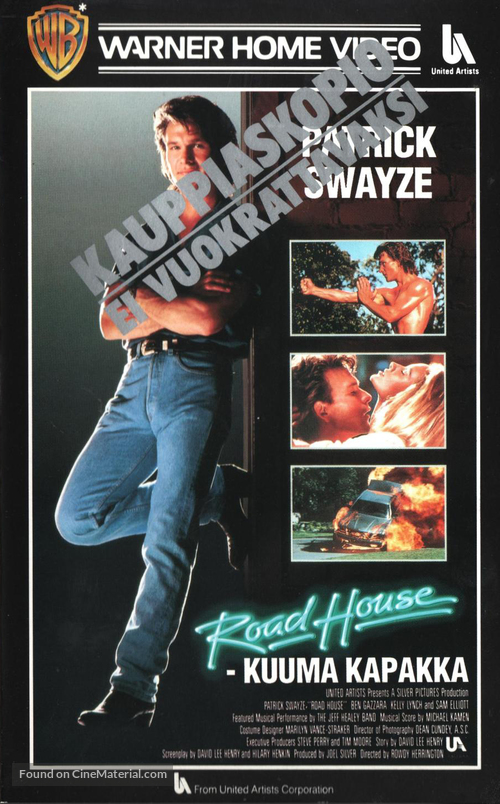 Road House - Finnish VHS movie cover