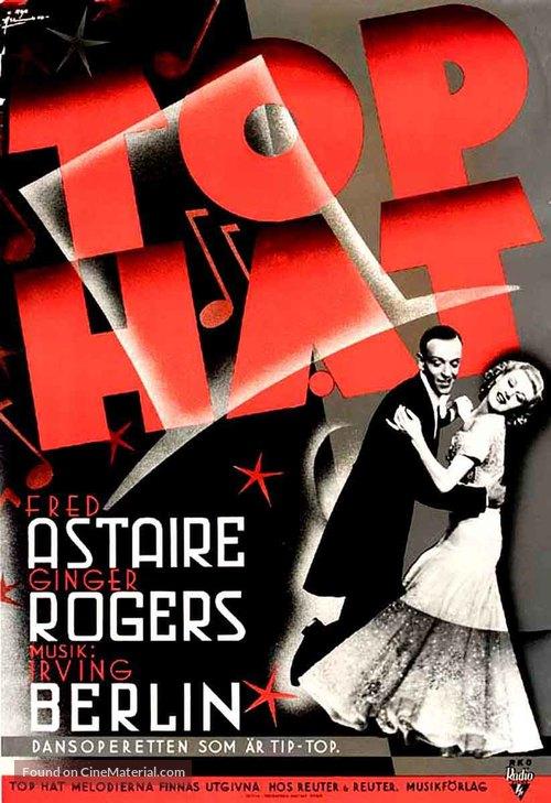 Top Hat - Swedish Movie Poster