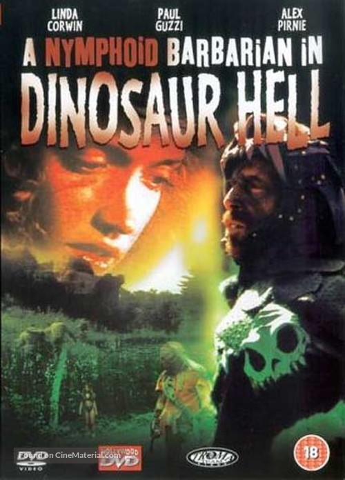 A Nymphoid Barbarian in Dinosaur Hell - British Movie Cover