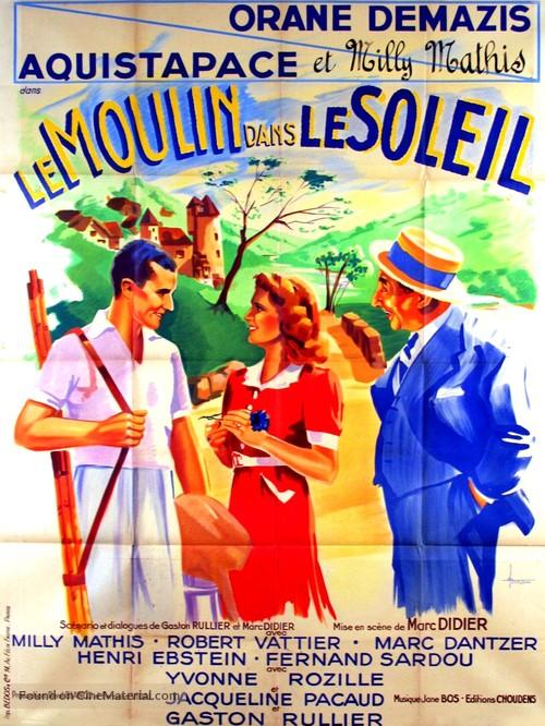 Le moulin dans le soleil - French Movie Poster