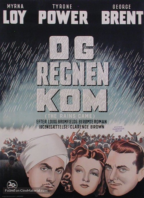 The Rains Came - Danish Movie Poster