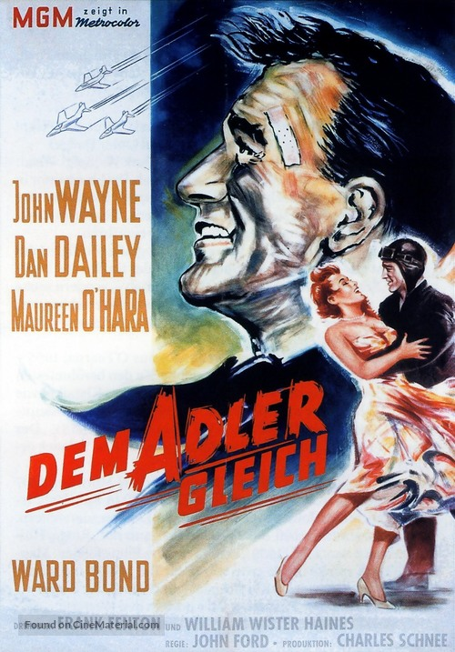 The Wings of Eagles - German Movie Poster