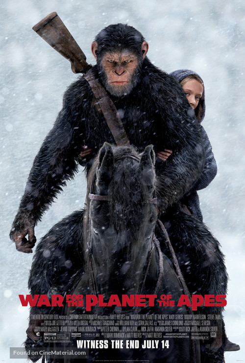 War for the Planet of the Apes - Movie Poster