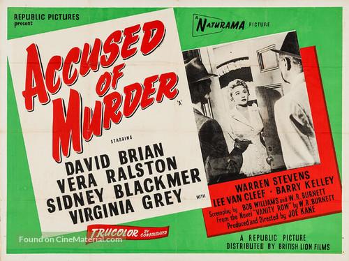 Accused of Murder - British Movie Poster