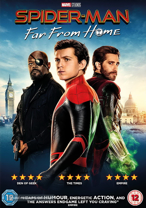 Spider-Man: Far From Home - British Movie Cover