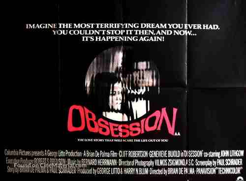 Obsession - British Movie Poster
