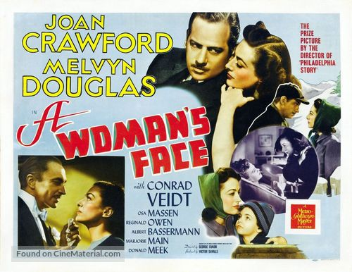 A Woman's Face - British Movie Poster