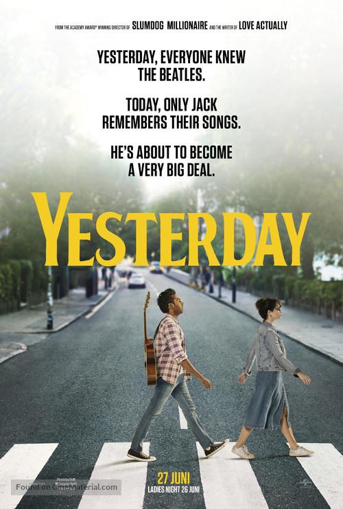 Yesterday - Dutch Movie Poster