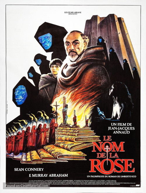 The Name of the Rose - French Movie Poster